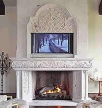 Cantera Stone Fireplaces by What Is Cantera Stone