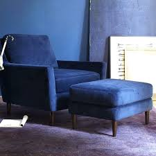 blue chair and ottoman navy blue accent chair with ottoman
