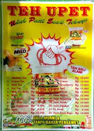 Teh Upet teh upet bandung indah plaza di bandung menu daftar harga teh