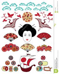 set of japan ornaments stock image image 21134971