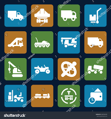 truck icons set set 16 truck stock vector 640726708 shutterstock
