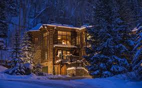 nature trees forest architecture colorado usa house winter