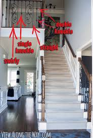 Pictures Of Banisters How To Install Iron Balusters View Along The Way
