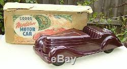 vintage codeg toy art deco bakelite streamlined 2 seater sports