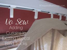 Curtains For Vertical Blind Track Easy Way To Spice Up Plastic Vertical Blinds Add Curtains Without