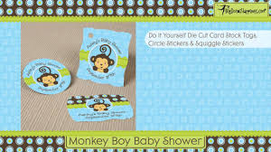 baby shower monkey monkey boy baby shower theme