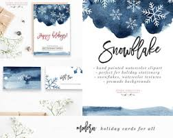 watercolor christmas clipart christmas photo card template