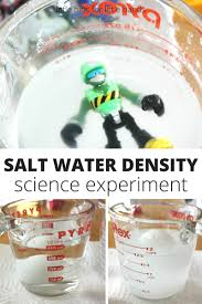salt water density science experiment for kids