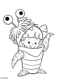 Monsters Inc Coloring Pages Boo | boo monster coloring pages hellokids com