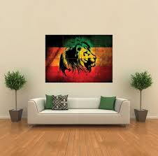 amazon com rasta lion reggae style giant wall print poster g465 amazon com rasta lion reggae style giant wall print poster g465 posters prints