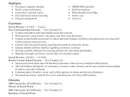 social worker resume school social work resume curriculum vitae social work resume