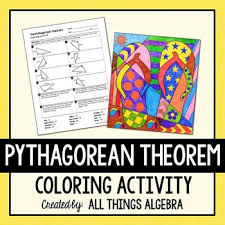 pythagorean theorem coloring activity by all things algebra tpt