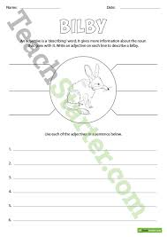 australian animals adjectives worksheet