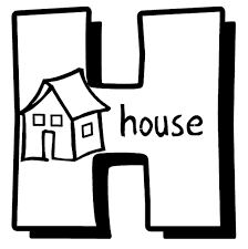 alphabet coloring pages printable house alphabet coloring pages