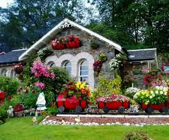 flower house beautiful small front yard landscape design with various flower in