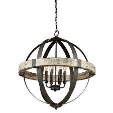 Wooden Chandelier Lighting Standard Wood Chandeliers Hanging Lights The Home Depot