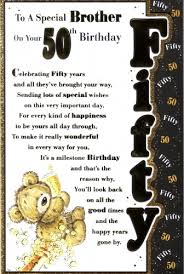 brother in law 50th birthday card personalised braille special