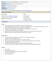 Resume Job Description by Salon Receptionist Job Description Resume Http Resumesdesign
