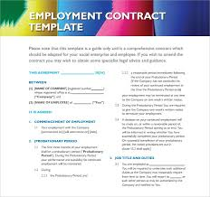 free employment contract template word 45 free employment contract