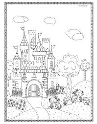 191 coloriage chateau fort images middle ages