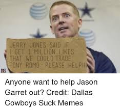 Dallas Cowboys Suck Memes - nfl memes jerry jones said if get 1 million likes that we could