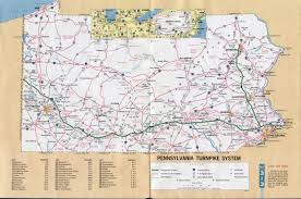 Map Of Pennsylvania by Large Detailed Map Of Pennsylvania Turnpike System U2013 1971
