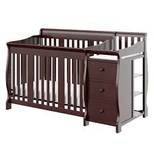 Convertible Crib Changing Table Nursery Decors Furnitures Tufted Crib Headboard Together With