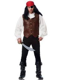 brown costume pirate costumes buccaneer costume for adults or kids