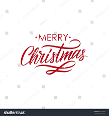 merry christmas calligraphic lettering design card stock vector
