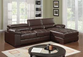 adjustable back sectional sofa modern small brown leather sectional sofa chaise tuft adjustable