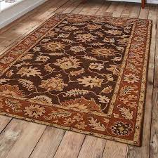 Rust Area Rug Three Posts Mchenry Vintage Tufted Wool Brown Rust Area Rug