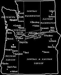 oregon map with cities map of washington and oregon