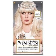 lightened front hair preference platinum very light blonde 6l hair dye superdrug
