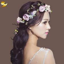 hair ornaments xinyun flower headband hairwear bridal hair ornament fabric flower