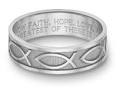 bible verse rings women s 14k white gold ichthus bible verse ring
