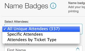 how to print attendee name badges eventbrite help center