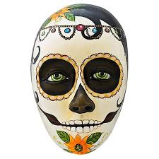 Day Of The Dead Mask Ceramic Figures Day Of The Dead Mask Fam21