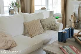 real life with a white slipcover u0026 keeping it pretty city farmhouse