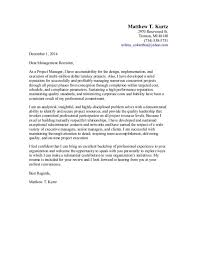 bank project manager cover letter