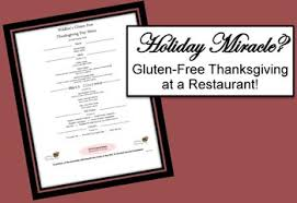 dining out for a gluten free thanksgiving gluten free diet tips
