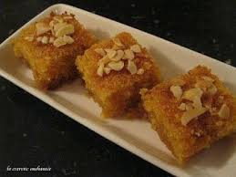 recettes cuisine marocaine basboussa au yaourt choumicha cuisine marocaine choumicha