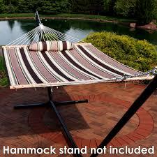 American Flag Hammock Sunnydaze 2 Person Quilted Hammock W Spreader Bar U0026 Pillow Many