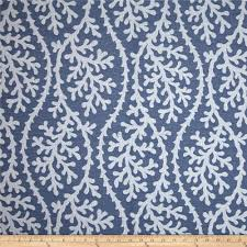 blue home decor fabric p kaufmann indoor outdoor coral gables jacquard nautical blue