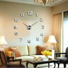 wall clocks wall clock number stickers max bill wall clocks large wall clock no numbers wall clock number stickers image is loading modern large diy wall clock 3d number sticker digital wall clock large numbers
