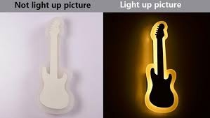 smd 3014 modern indoor home decoration lighting guitar acrylic led