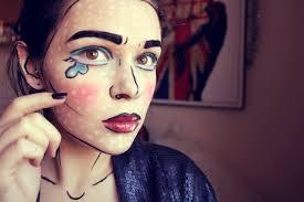 pop art comic halloween makeup tutorial 4ngstyle by