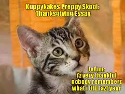 kuppykakes preppy skool thanksgiving essay lolcats lol cat