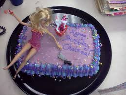 modern male homemaker drunken barbie birthday cake