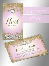 chic business card design diamonds lilac gold boutique spa