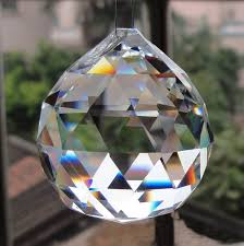 2pcs 50mm clear faceted glass crystal prisms for chandelier parts crystal suncatcher hanging pendants for